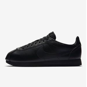 black on black nike cortez